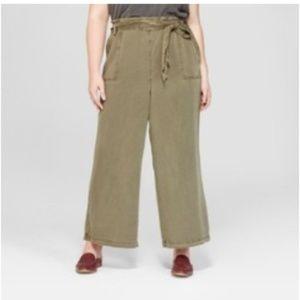 Universal Threads Size 4X Green Wide Leg Pants